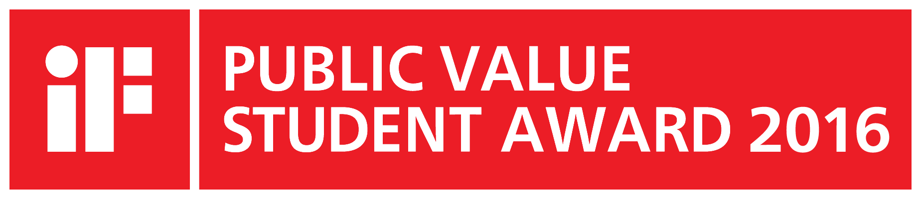 iF PUBLIC VALUE STUDENT AWARD 2016